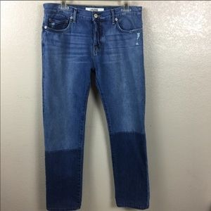 Lucky Brand Vintage Straight Ombre Button Fly Jean